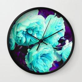 Light blue Rose Kathryn Wall Clock