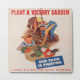 Vintage poster - Victory Garden Metal Print