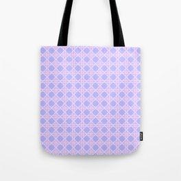 Cane Rattan Lattice in Lilac Tote Bag