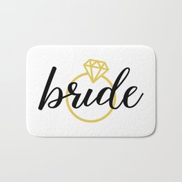 Bride with Diamond Ring (Gold) Bath Mat