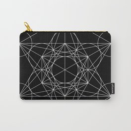 Metatron's Cube Black & White Carry-All Pouch
