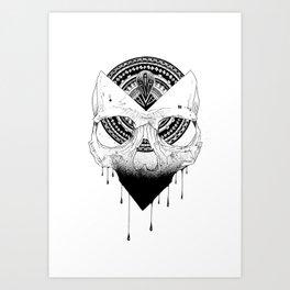 Enigmatic Skull Art Print