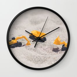 Construction Site Wall Clock