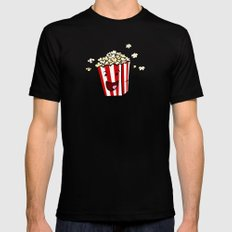 Buttered Popcorn X-LARGE Mens Fitted Tee Black