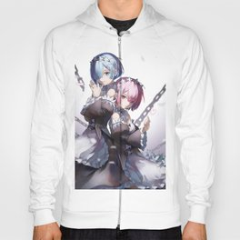 Rem And Ram Re Zero Poster Hoody