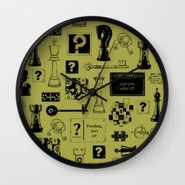 Brain Teaser pattern Wall Clock
