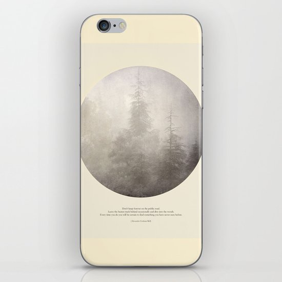 love the woods iPhone & iPod Skin