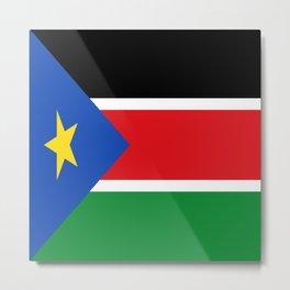 Flag of south sudan Metal Print