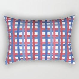 4th of July Gingham Rectangular Pillow
