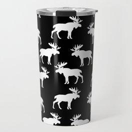 Moose Trot // Black Travel Mug