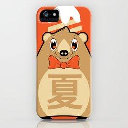 Natsu - Season bear Summer iPhone Case