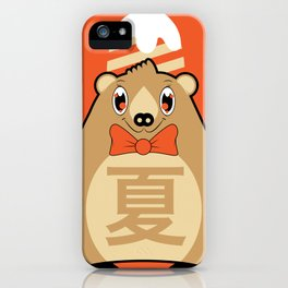 Natsu - Season bear Summer iPhone Case