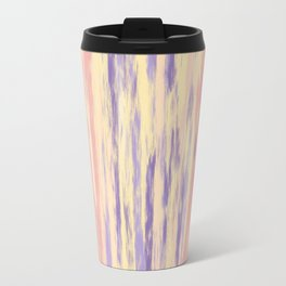 Vertical Stripes on Buttercream - from the Lilac Buttercup colour palette collection Travel Mug