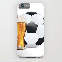 Beer and Soccer Ball iPhone Case