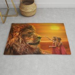 Lion twins | Lion et jumelles Rug