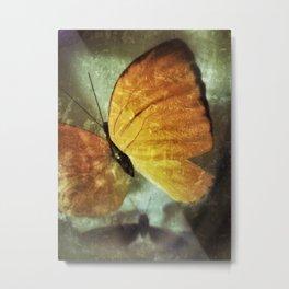 Yellow and Shadow Metal Print