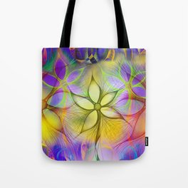 TRIPPY FLOWERS Tote Bag