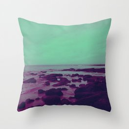 Purple Rocks Throw Pillow