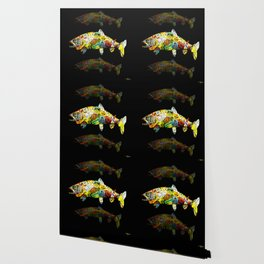 FATHER  LIKES FISH AND BOURBON POP ART Wallpaper