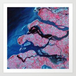 Pink virus Art Print