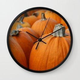 Pumpkins 3 Wall Clock