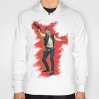 han solo Hoodies featuring Han Solo by Sindhu Tngm