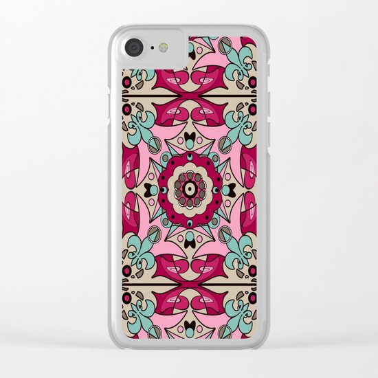 A colourful ornament . Clear iPhone Case