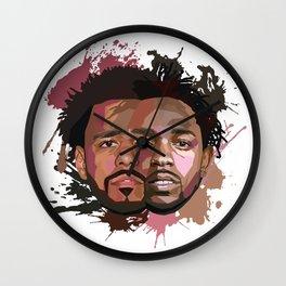 Kendrick Lamar + J Cole Wall Clock