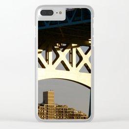 Sunset on the Robert F. Kennedy Bridge. New York. USA Clear iPhone Case