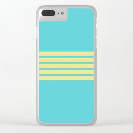 Yellow Rainbow Clear iPhone Case