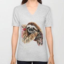 Sassy Sloth Unisex V-Neck