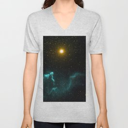 Gamma Cassiopeia Nebula Unisex V-Neck