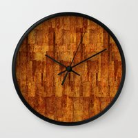 buildings Wall Clocks featuring Buildings by GLR67