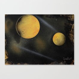 Looking Up - Spray Paint Art Canvas Print