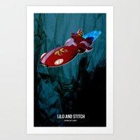 lilo and stitch Art Prints featuring Lilo & Stitch by holysmoaks