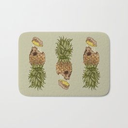 Pineapple Skull Bath Mat