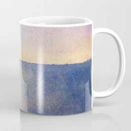 Watercolour Sunset Textural Abstract Painting Coffee Mug