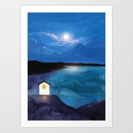 Full moon symphony Art Print