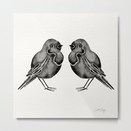 Little Blackbirds Metal Print