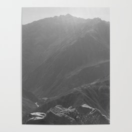 Top of the Rockies B&W Poster