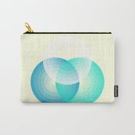 Three colour circles inverted, inspired by Lacouture's Répertoire chromatique Carry-All Pouch