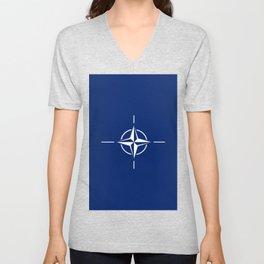 flag of nato Unisex V-Neck