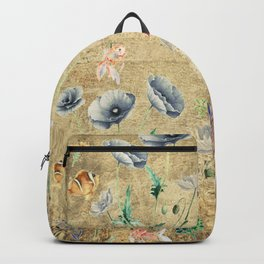Fishes & Garden #Gold-plated Backpack