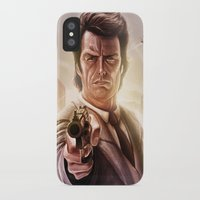 clint eastwood iPhone & iPod Cases featuring Clint Eastwood by Jose Manuel Serrano