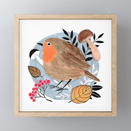 Robin Framed Mini Art Print