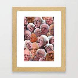 BERNIE SANDERS EXPRESSIONS Framed Art Print