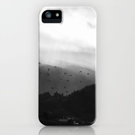 A foggy day in the hills iPhone Case