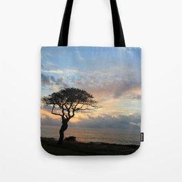 Lone Tree in Hawaii Tote Bag