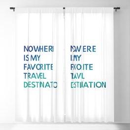 Travel Nowhere Blackout Curtain