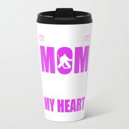 Hockey Goalie Moms Full Heart Mothers Day T-Shirt Travel Mug